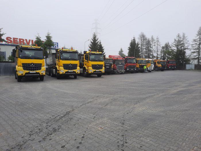 Wywrotki Scania i Mercedes 8x6, 8x4, 6x4, 4x2 - 13 szt.